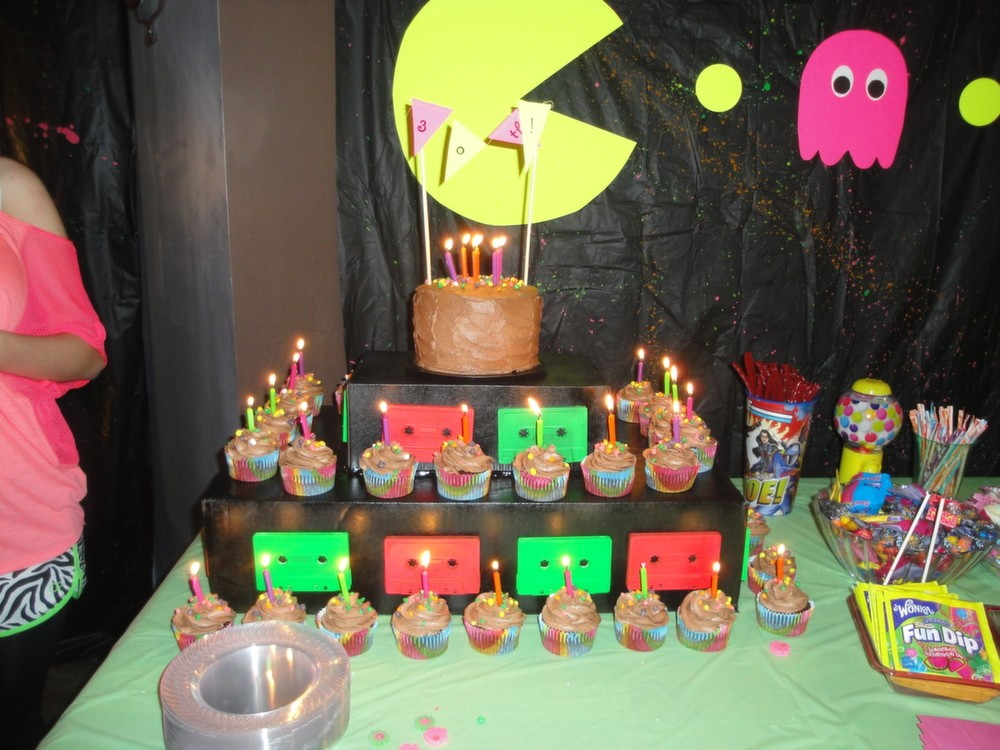 80s Theme Party Ideas Decorations Part - 27: Totally Radical 80s Themed Party Part 4. Cupcake Stand 1