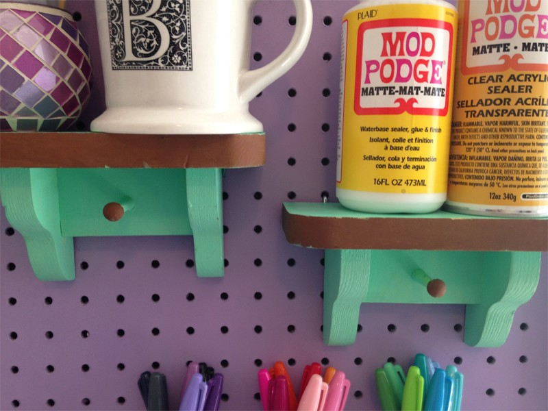 Craft Room Organization with Framed Pegboard 20