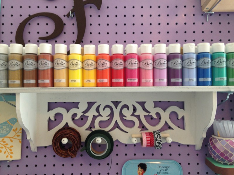Craft Room Organization with Framed Pegboard 21