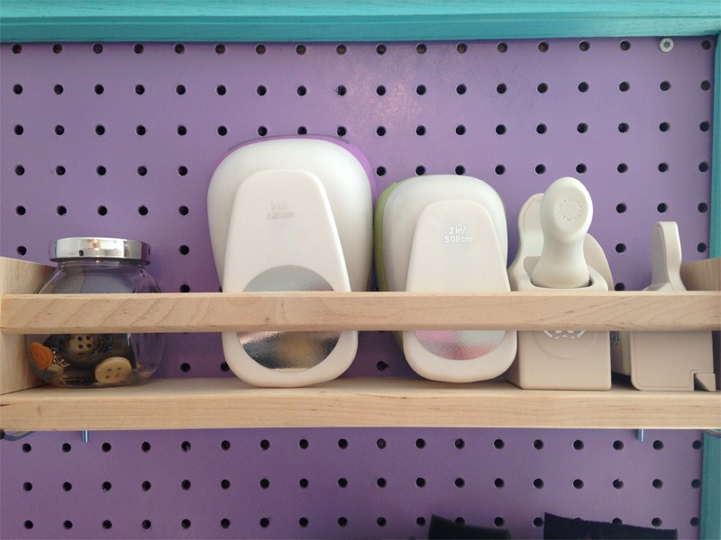 Craft room organization with a framed pegboard southern for Craft room pegboard accessories