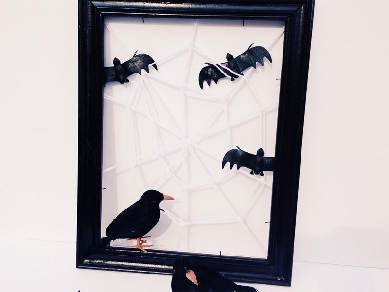 Halloween Framed Spider Web 1