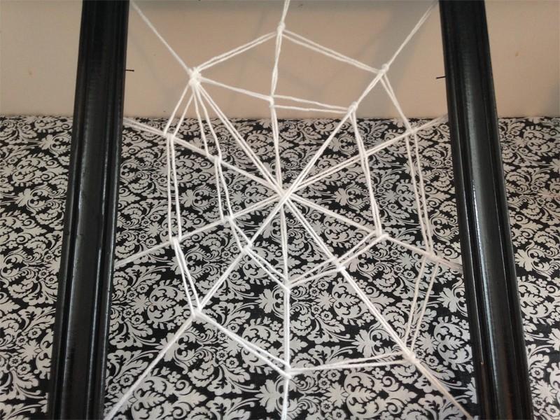 Halloween Framed Spider Web 11
