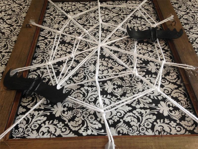 Halloween Framed Spider Web 12