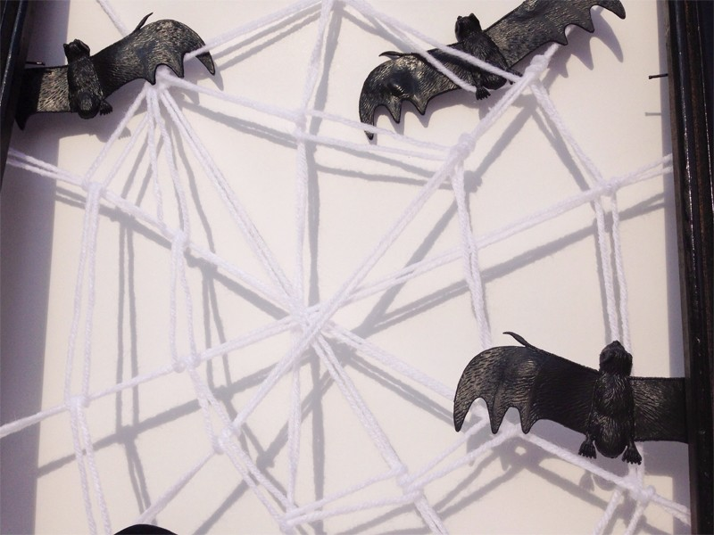 Halloween Framed Spider Web 4