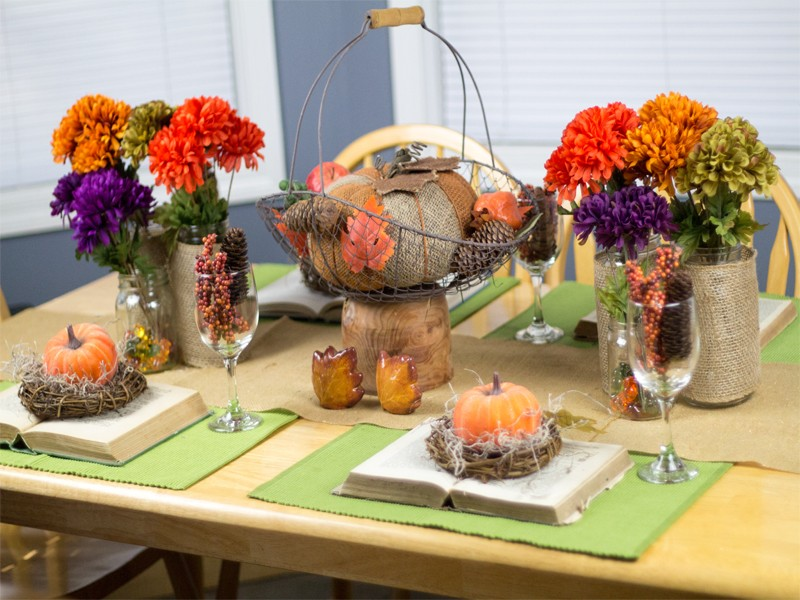 Burlap and Vintage Inspired Thanksgiving Tablescape 6