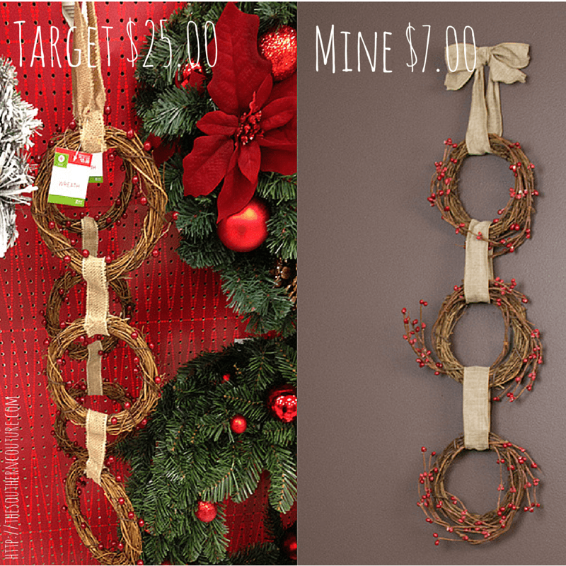 target inspired 3 tier grapevine wreath 8 - Grapevine Garland Christmas Decorations