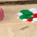 Pom Pom Christmas Garland Featured Image