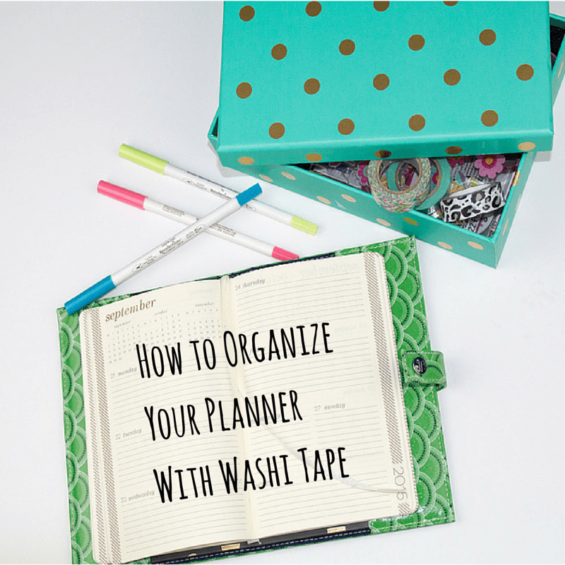How to Organize Your Planner With Washi Tape 15