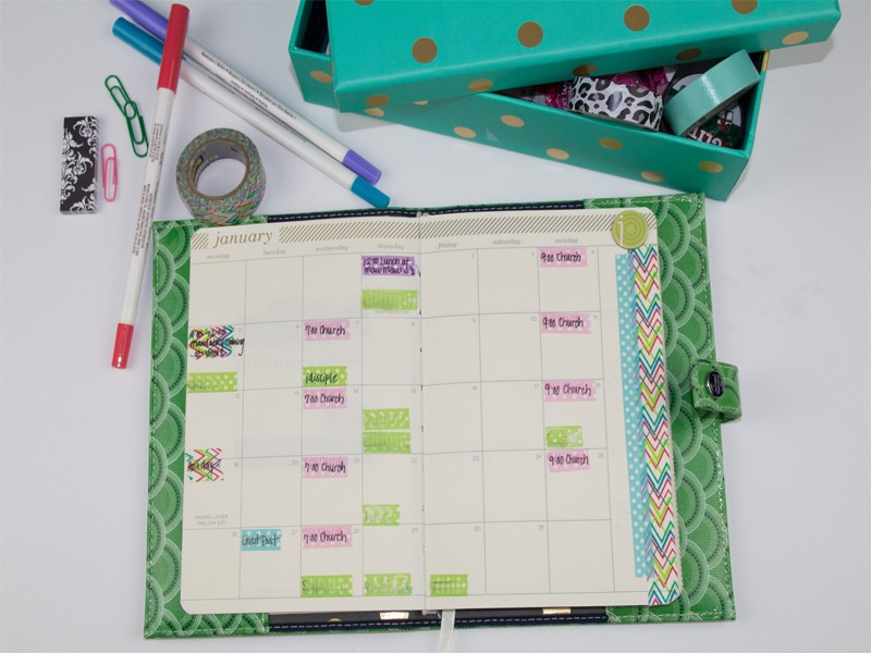 How to Organize Your Planner with Washi Tape 10