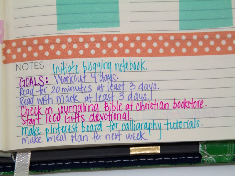 How To Organize Your Planner With Washi Tape Southern Couture