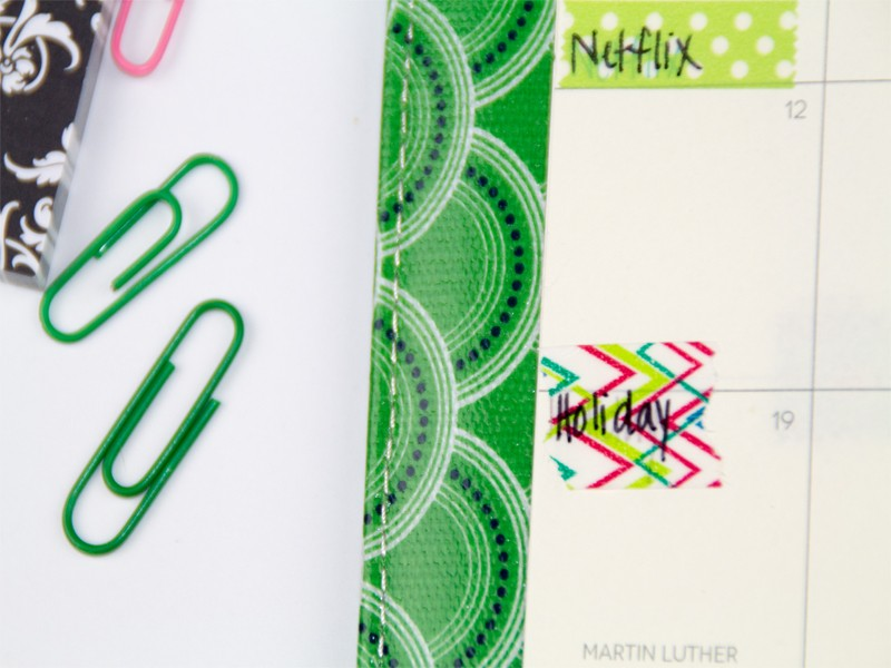 How to Organize Your Planner with Washi Tape 9