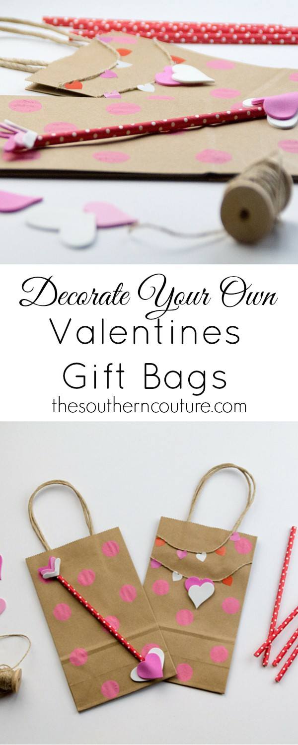 Decorate Your Own Valentines Gift Bags Southern Couture