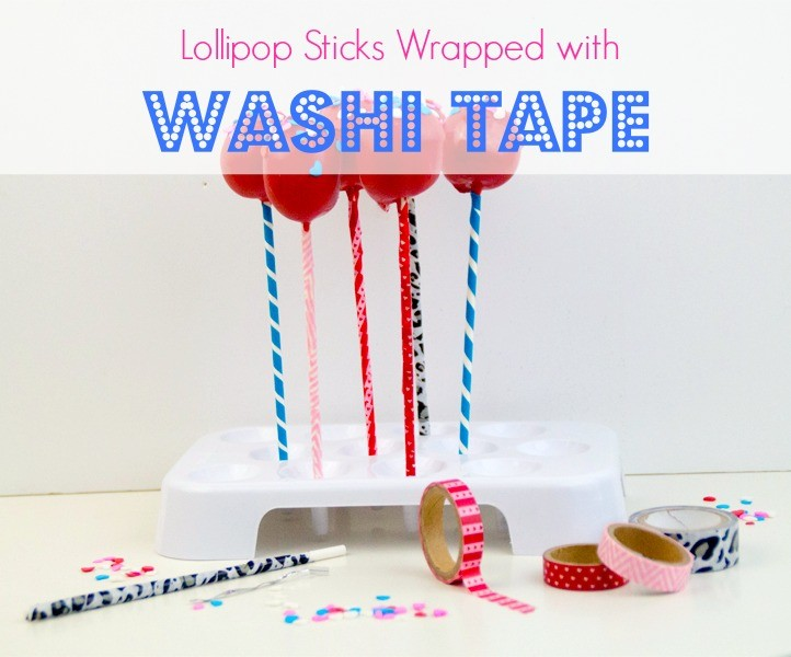 Lollipop Sticks Wrapped with Washi Tape 7