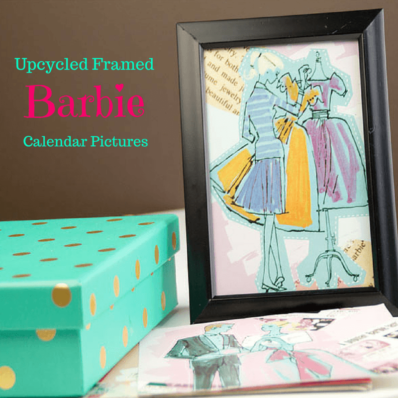 Upcycled Framed Barbie Calendar Pictures Southern Couture