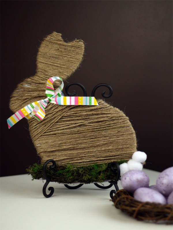Moss and Twine Wrapped Easter Bunny