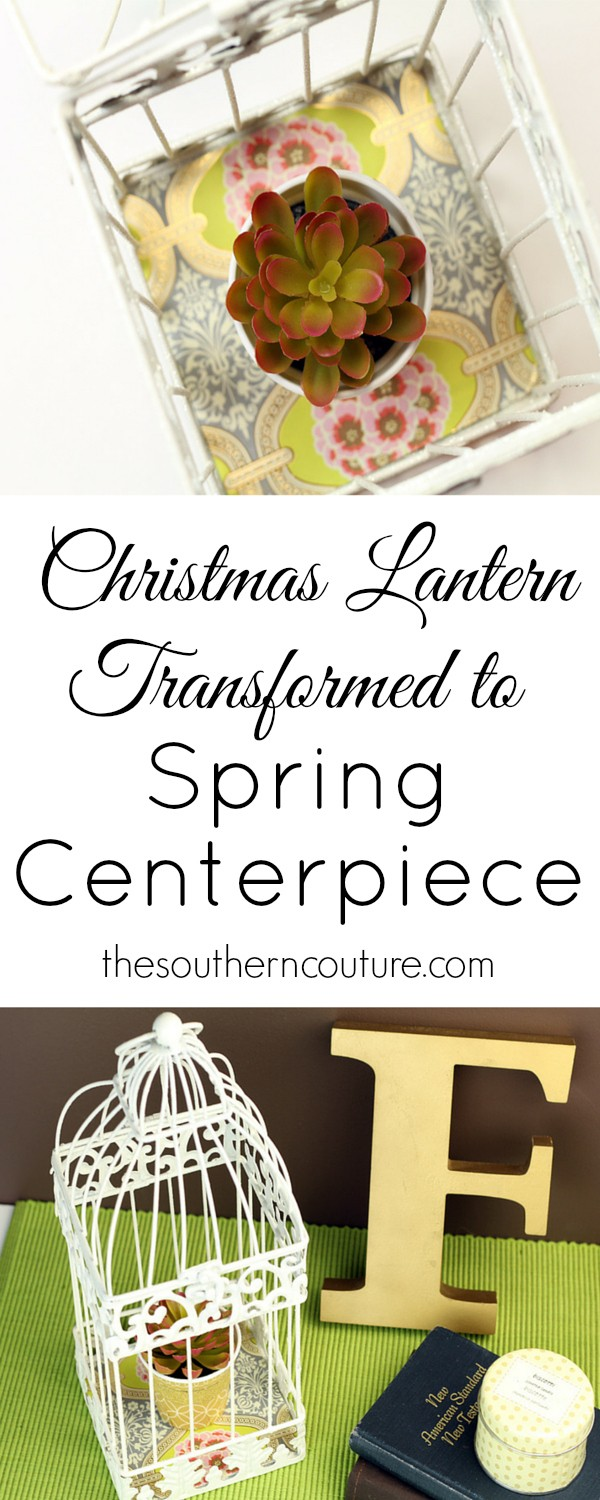 Don't ever underestimate the clearance aisle or leftover Christmas decorations. They are so much cheaper and can be used throughout the year too. See now how simple the transformation is at thesoutherncouture.com.
