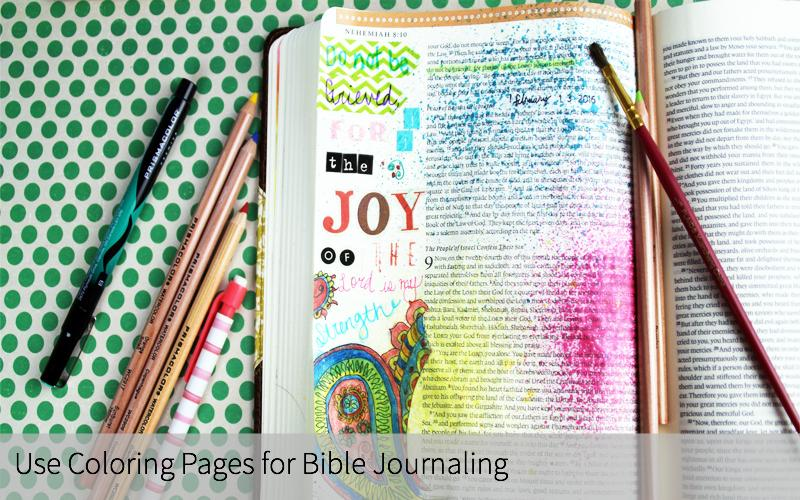 Use Coloring Pages For Bible Journaling 2
