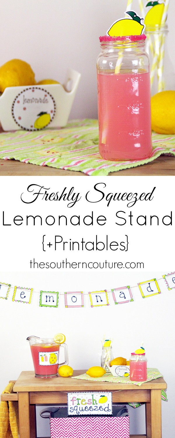 freshly squeezed lemonade stand printable