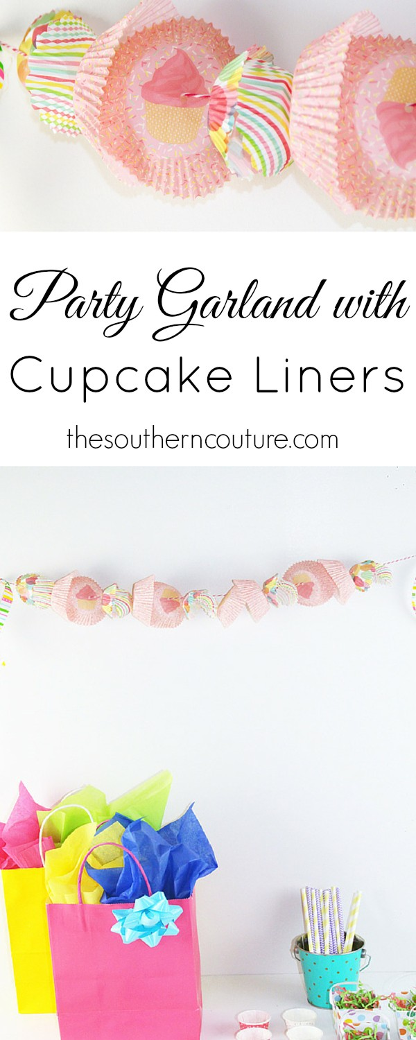 Decorate for any occasion without spending all the money and effort. This party garland using cupcake liners from thesouthencouture.com is perfect to make within minutes and for only dollars.