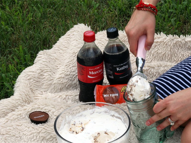 REESE'S Cups Ice Cream Coca-Cola Float