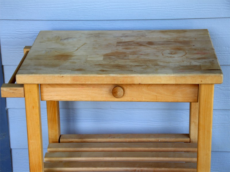 Transformation Of A $10 Microwave Table
