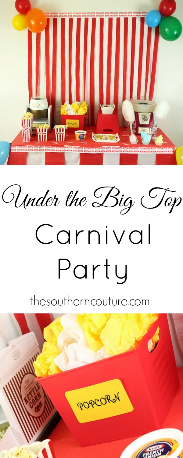 Get all the decorations and food ideas you need to throw the best carnival party for the whole neighborhood. Be sure to get all the details at thesoutherncouture.com.