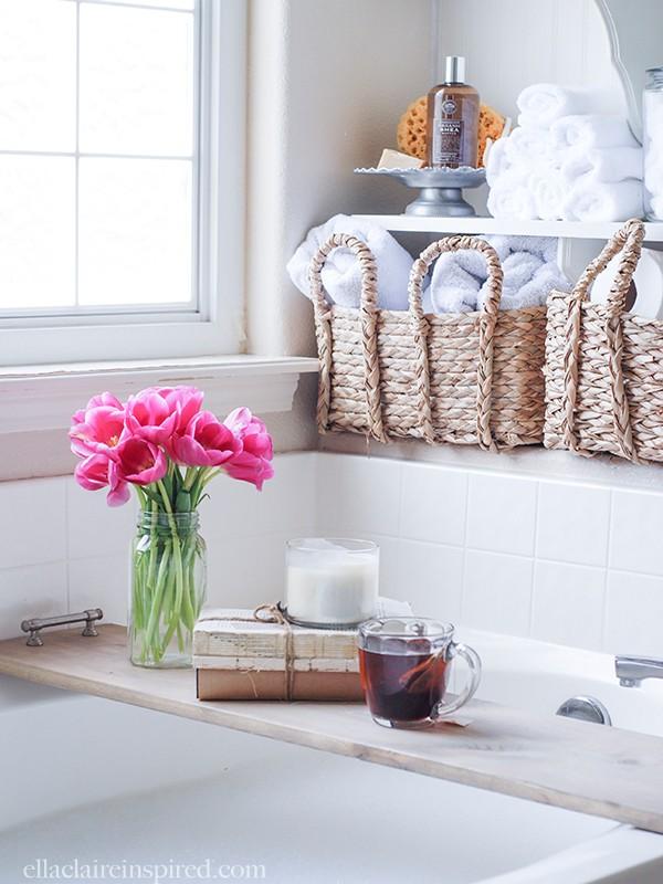 Easy DIY Bathtub Tray + {The Creative Corner 8.23.15} - Southern ...