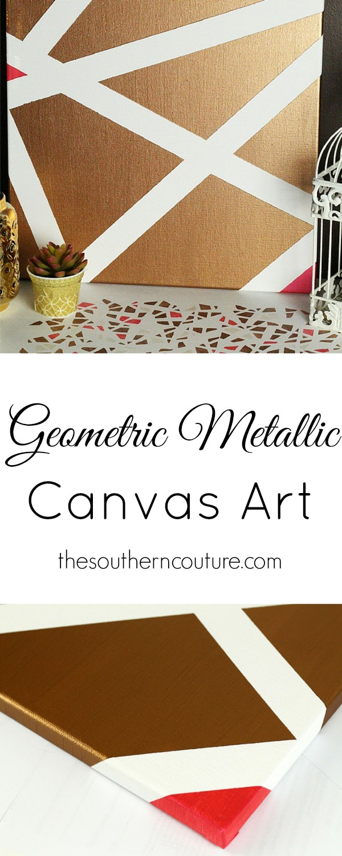 Diy geometric wall art for Geometric wall art diy