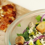 Gluten Free Pizza and Italian Inspired Salad with Homemade Dressing