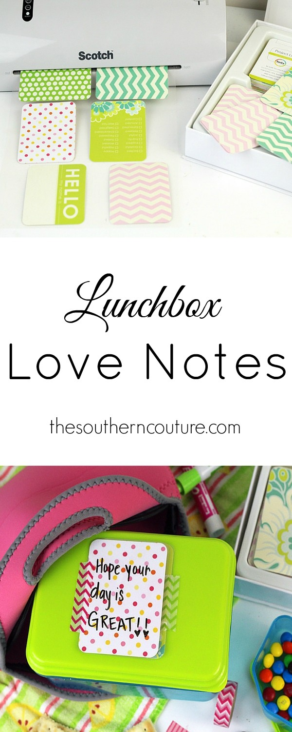 Make your own reusable note cards to send in your child's lunchbox everyday. The great part is that you can reuse them every day too. Get all the details at thesoutherncouture.com.