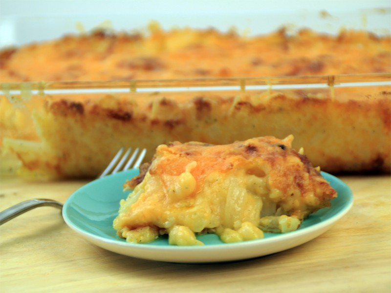 Cheesy Potato and Onion Bake