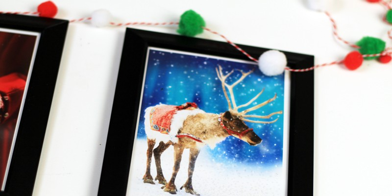 Christmas Card Wall Decor : Upcycled christmas cards to framed wall art southern couture
