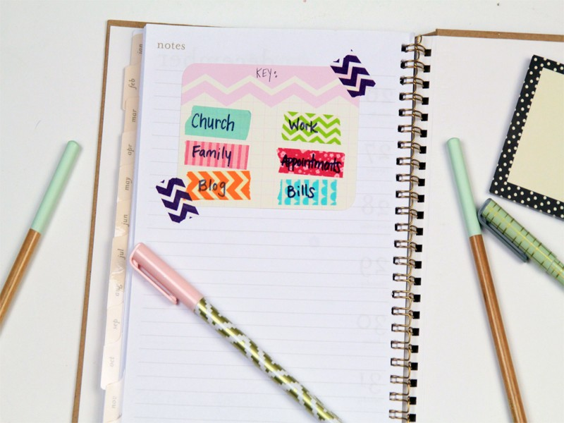 How to organize your planner for How do you use washi tape
