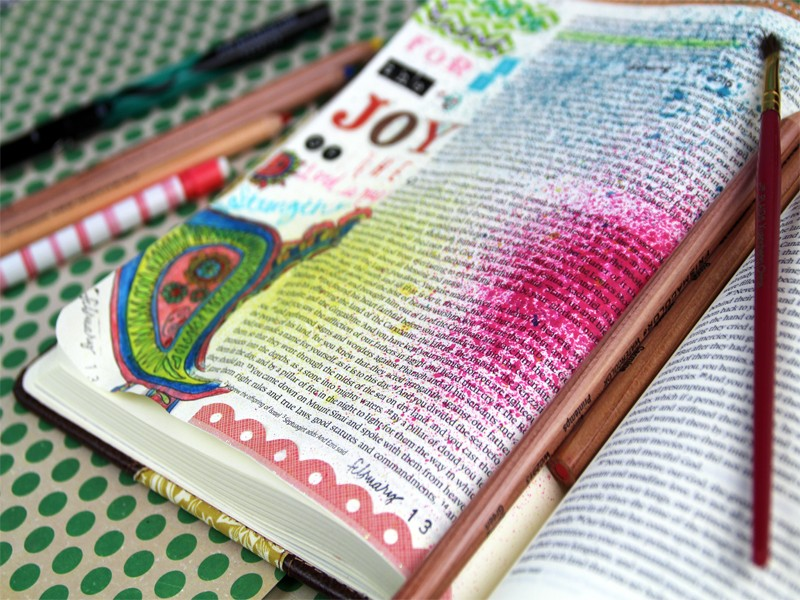 Use Coloring Pages For Bible Journaling