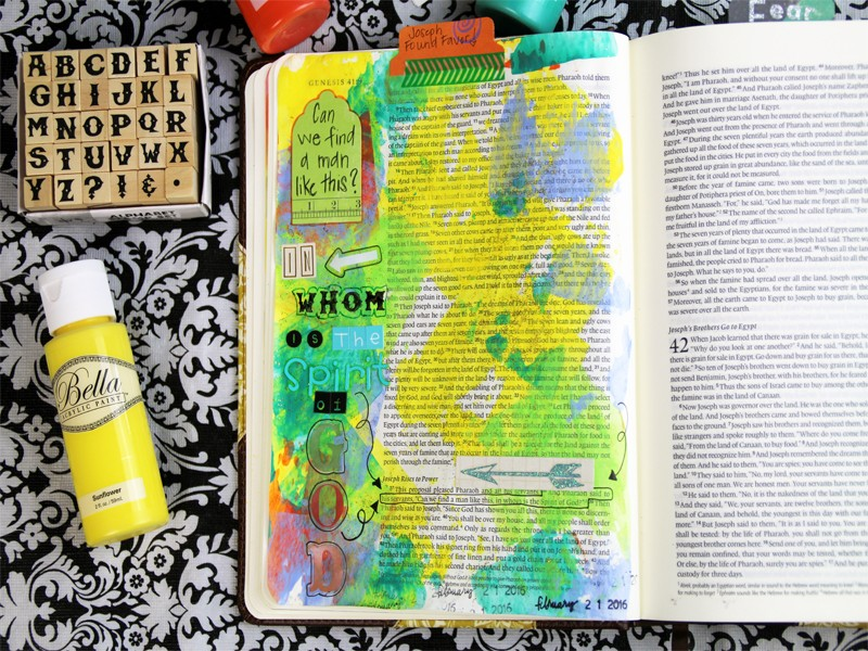 Using Acrylic Paint for Bible Journaling