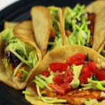 Blackened Tilapia Tacos with Avocado Cream Sauce