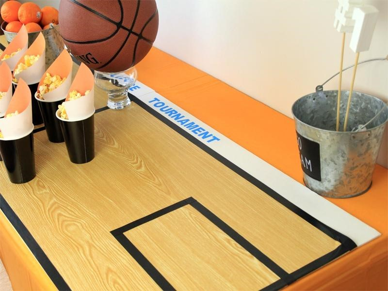 Plans for a slam dunk basketball party for Making a basketball court