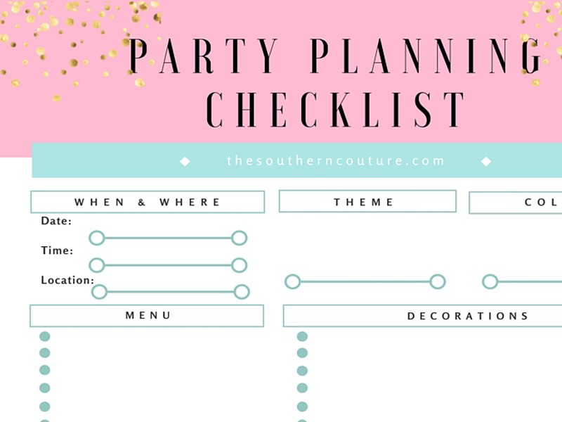 Your FREE Party Planning Checklist