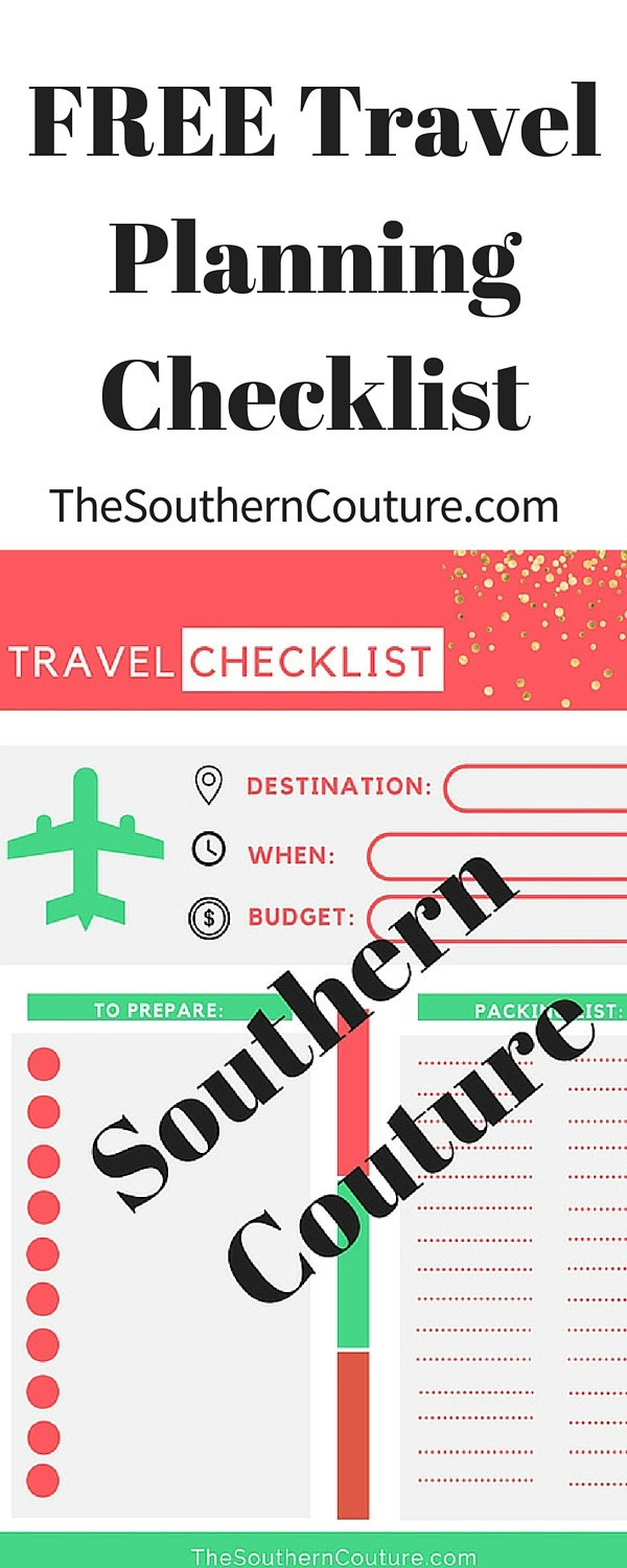 vacation planning checklist