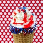 Patriotic Waffle Cone Dessert