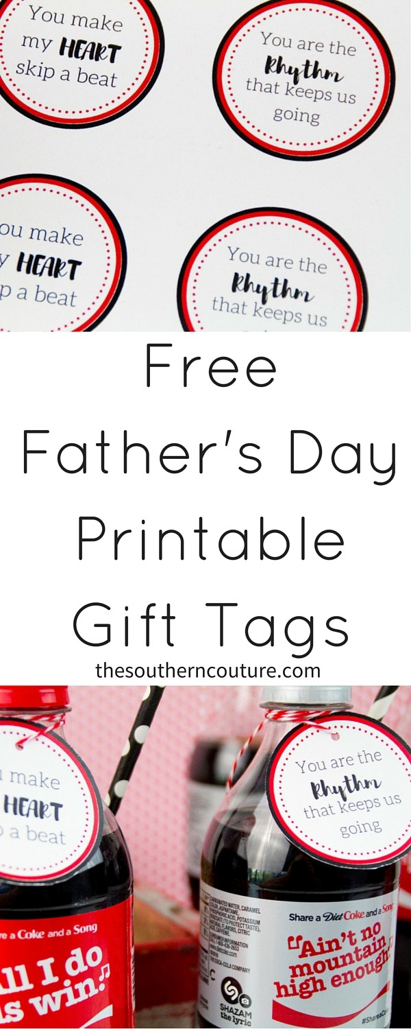 photo regarding Free Printable Fathers Day Tags called No cost Fathers Working day Printable Reward Tags - Southern Couture