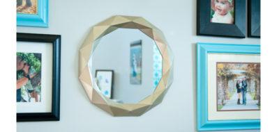 DIY Gold Framed Mirror