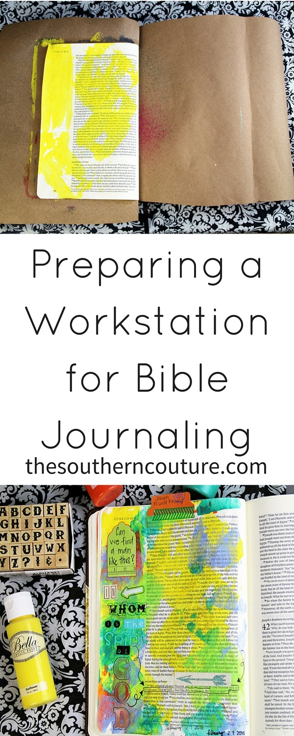Preparing a Workstation for Bible Journaling