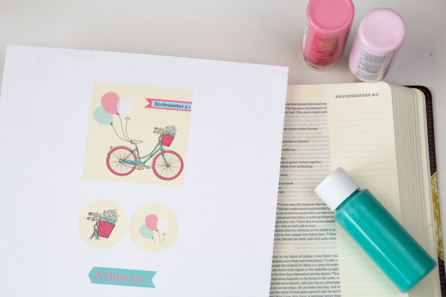 Bible Journaling Tutorial with Free Printable - A Cup Full