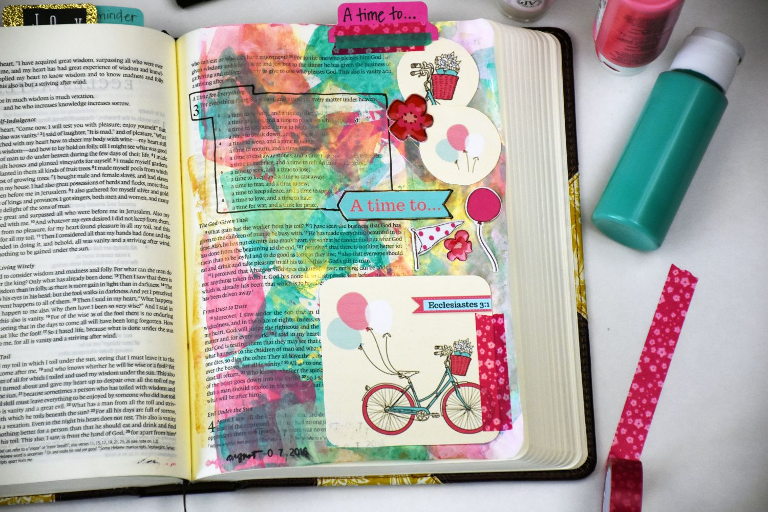 Bible Journaling with Acrylic Paint