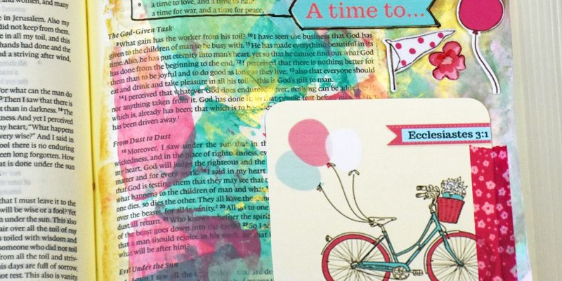 Vintage Bicycle Printable for Bible Journaling