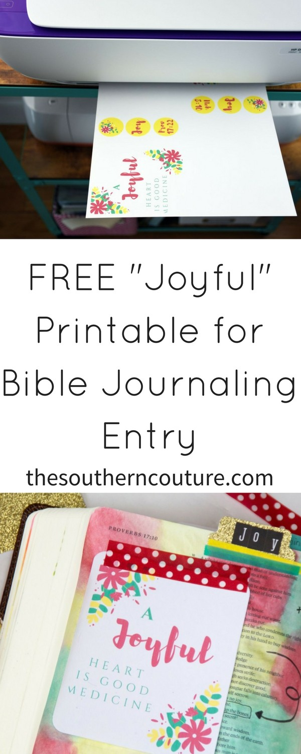 Free Printable for Bible Journaling Entry - Southern Couture