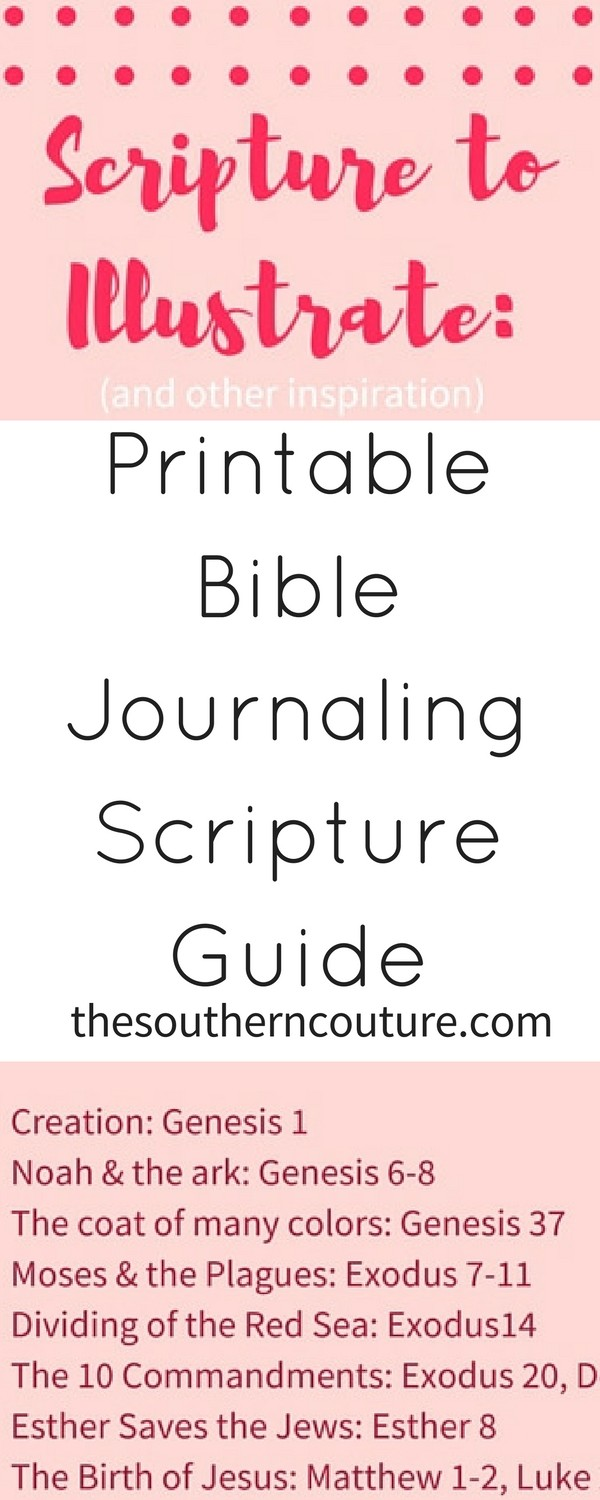 Printable Bible Journaling Scripture Guide - Southern Couture