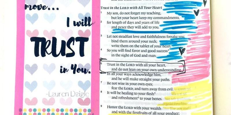 Song Lyrics Printable for Bible Journaling