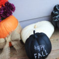 Chalkboard Hand Lettered Pumpkins